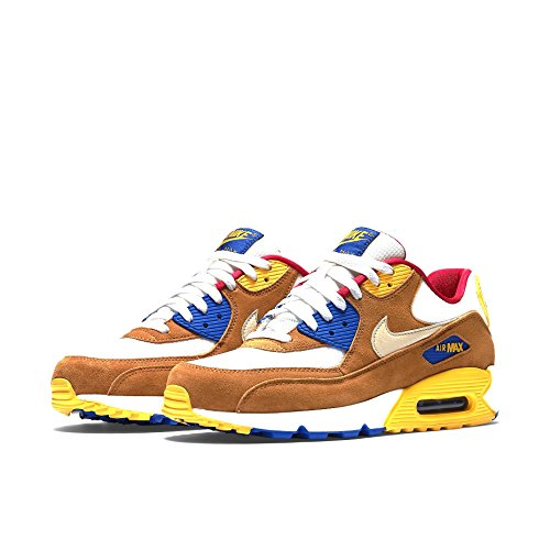 NIKE AIR MAX 90 PRM Blanc, Marron