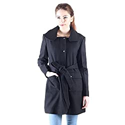 Owncraft black wool coat for women