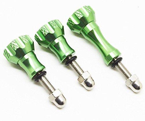 Con acabado a mecanizado CNC Tornillos de pulgar de aluminio con tuerca muy resistente. en un llamativo verde anodizado. cuando sólo el mejor voluntad hacer... Contiene 2tornillos más cortos y 1tornillo largo, todos con arandela de goma y tuercas.
