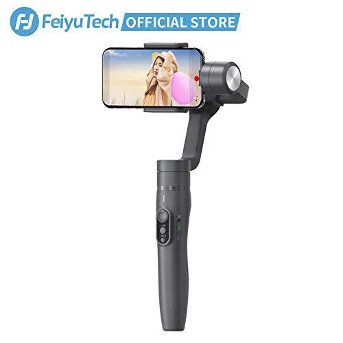 FeiyuTech Vimble-2 3-Achsen Handy Gimbal Handkamerastabilisator eingebaute 18cm Verlängerungsstange für Iphone & Android Smartphone,Grau -