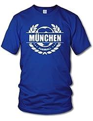 shirtloge - MÜNCHEN - Fussball Lorbeerkranz - Fan T-Shirt - Größe S - 3XL