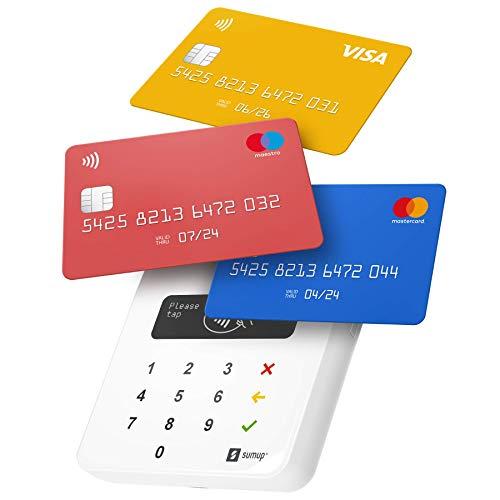 SumUp Air terminal de paiement, TPE, Aucuns frais mensuels, Bluetooth, Acceptez toutes les cartes bancaires, NFC, Apple Pay, Google Pay