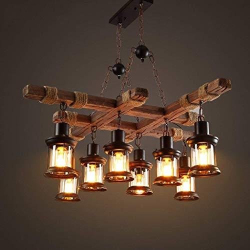 BCX die Beleuchtung Boot von der Insel Kronleuchter Kronleuchter CAF Eacute; Bar Vintage Lampe Pendelleuchte, Industriedesign Massivholz Kronleuchter Restaurant Innenbeleuchtung