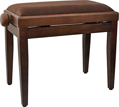 Steinbach Klavierbank höhenverstellbar in Nuss matt Hebemechanik wechselbarer Sitzbezug. Die Sitzauflage ist nach dem Kauf wählbar. Updn