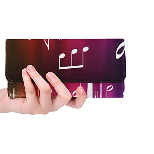 rdefinierte Farbspektrum Puls Noten Original Frauen Trifold Wallet Lange Geldbörse Kreditkarteninhaber Fall Handtasche ()