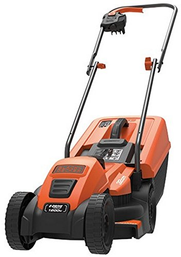 BLACK+DECKER 1200W Edge-Max Lawn Mower with 32 cm Cut/ 35 L Box