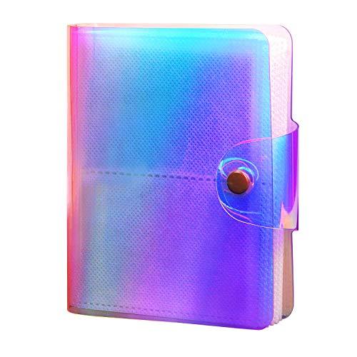 CAIUL Compatible Mini Billetera Foto Álbum Dedicado a Cámaras Fujifilm Instax Mini 9 8 90 70 7s 25 26 50s(64 Fotos, Ilusion Transparente)