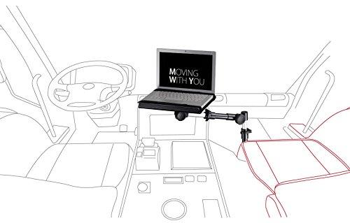 Preisvergleich Produktbild Infuu Holders 001 KFZ Halterung für Notebook Laptop Netbook Auto LKW Macbook Ultrabook UNIVERSAL STABIL METALL