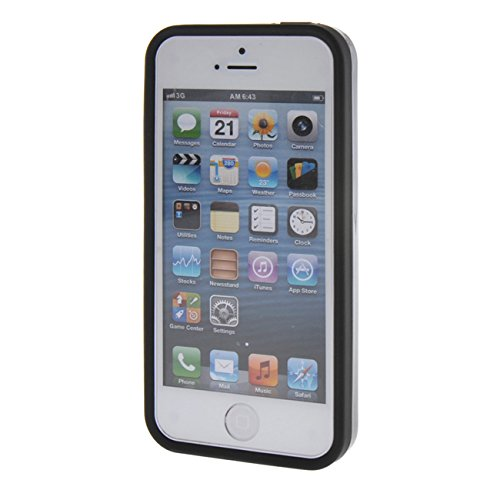 MOONCASE pour Apple iPhone 5G / 5S Case Coque Silicone Gel TPU Etui Housse Case Cover Rouge Gris #0201