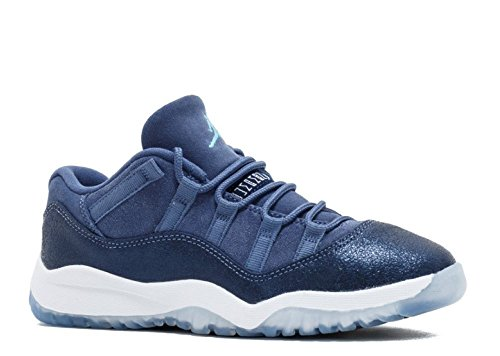 Jordan 11 Retro Low GP Little Kid's Shoes Blue Moon/Polarized Blue 580522-408 (1 M US) (Retro Jordan 11 Schuhe Für Männer)