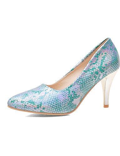 WSS 2016 Chaussures Femme-Bureau & Travail / Décontracté-Noir / Bleu / Rose-Talon Aiguille-Talons / Bout Pointu-Talons-Synthétique pink-us9 / eu40 / uk7 / cn41