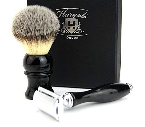 Luxe Homme/de toilettage de rasage Lot de cheveux synthétiques Brosse de rasoir de sécurité)