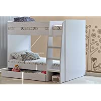 Sleepland Beds 2ft6 Royal Bunk (white)