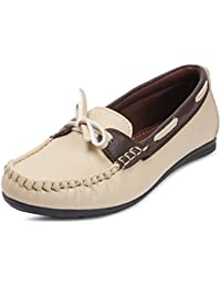 Meriggiare Women Synthetic Beige Loafers 40 EU