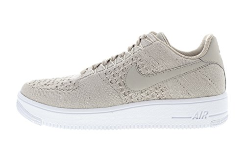 NIKE Chaussures Homme Air Force 1Flyknit Low, string/string-white