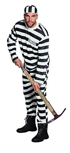 hsenenkostüm Gefangener Jackson, schwarz (Schwarze Und Weiße Streifen In Der Halloween Kostüme)