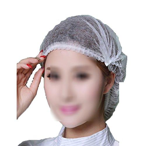 ROSENICE Einweghauben Duschhauben 18 Zoll Schwesternhauben Baretthauben für Baden Kochen 100pcs (Einweg Kopfhauben)