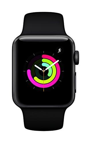 41XdiFrB8NL - [Conrad] Apple Watch Series 3 GPS 38mm Aluminiumgehäuse Space Grau Sportarmband Schwarz MQKV2ZD/A für nur 349€