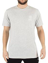 Franklin & Marshall Hombre Izquierdo del pecho la camiseta del logotipo, Gris