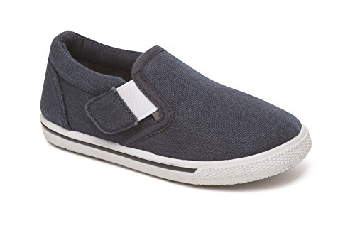 Chatterbox Boys Kids Pumps Canvas Boat Shoes Espadrilles Trainers Navy UK Infant Sizes 4 5 6 7 8 9 10 11 12 (9 UK Child, Navy SS18)