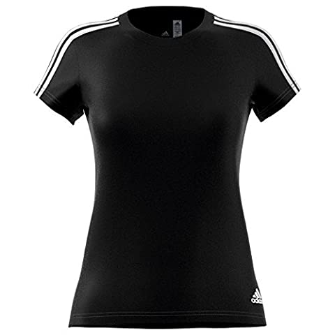 adidas Ess 3S Slim Tee T-shirt für Damen, Schwarz (Schwarz / Weiß), 2XL