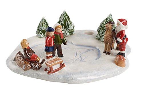 Villeroy & Boch 1486315445 Mini Christmas Village Ambientazione Pattinaggio Ghiaccio, Bianco, 15,5 x 14 x 5,5 cm