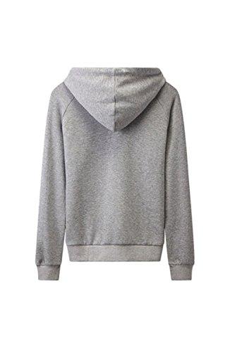 Manches longues Star Yacun féminin imprimé à capuche Sweatershirt Grey