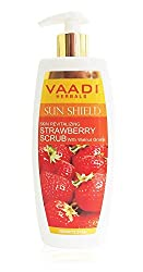 Vaadi STRAWBERRY SCRUB LOTION with Walnut Grains Green Apple and Strawberry mild