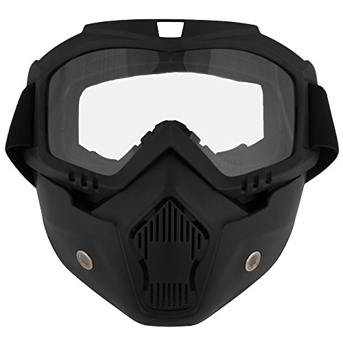 Autofy O2 Pro Pollution Mask For Bike Riders (Black)