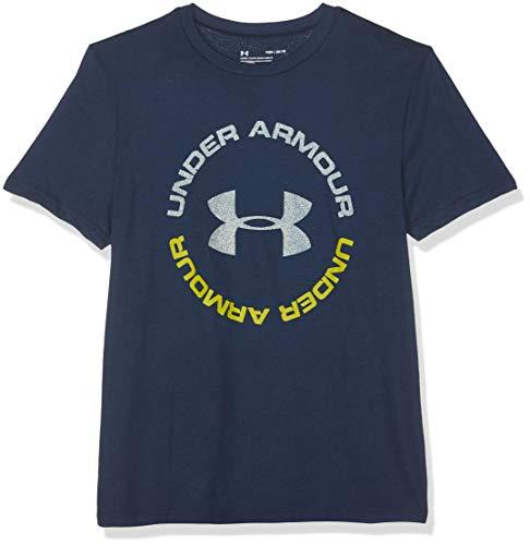 Wesentliche Gerippter V-neck Tee (Under Armour Jungen Sportstyle Tee Kurzarmshirt, Blau, YLG)