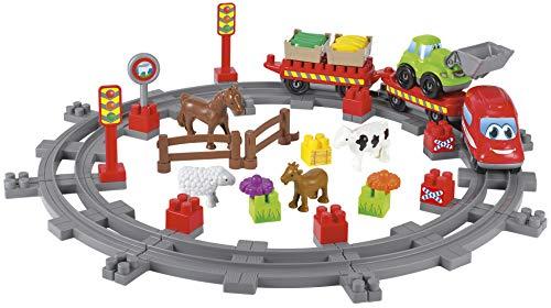 Jouets Ecoiffier -3068 - Train de campagne Abrick - Jeu de construction pour enfants - Dès 18 mois - Fabriqué en France