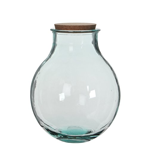MICA Decorations Olly Vase, Glas, transparent 29 x 29 x 38 cm