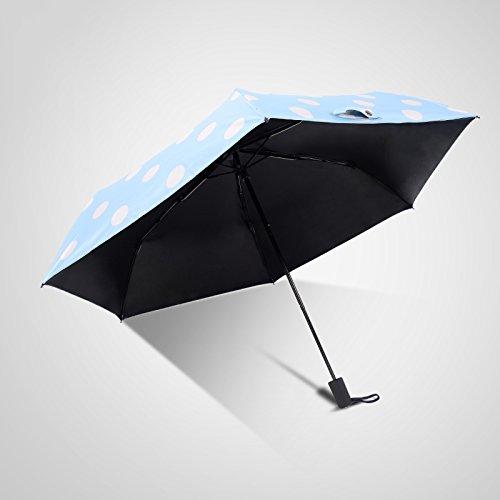Sanzhe Ultra - Leichte Gezeiten Tragbare Wellen Punkte Sun Regenschirm Frauen Falten Vinyl Sonnenschirm Regenschirm Anti - Ultraviolett ( Farbe : Elegant Black ) (Frauen Welle Stiefel)