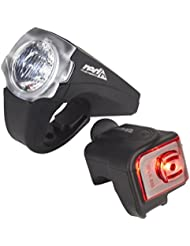 Red Cycling Products PRO 25 Lux Urban LED Beleuchtungsset schwarz 2017 Fahrradbeleuchtung Sets