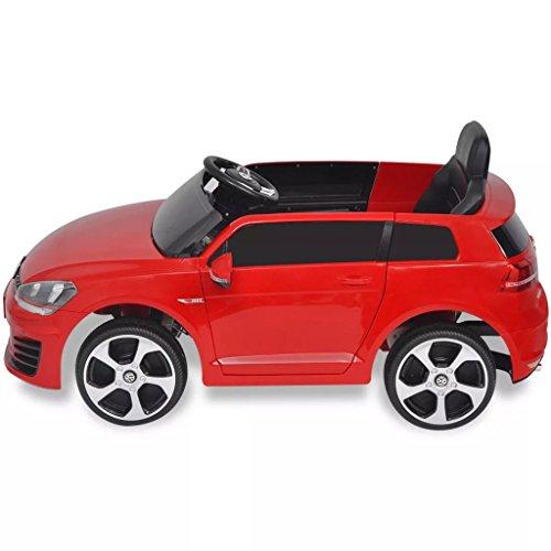 RC Auto kaufen Kinderauto Bild 3: SENLUOWX Kinderauto Elektroauto VW Golf GTI 7 rot 12 V Kinderfahrzeug Kinderauto mit Fernbedienung*
