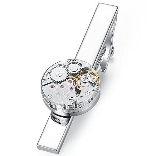 Honey Bear Herren Krawattennadel Krawattenklammer Steampunk Uhrwerk Tie Clip aus Edelstahl 5.4cm,MEHRWEG