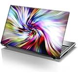"""TaylorHe Skins - Skin para portátil de 15,6"""" (efecto piel, para Samsung, ASUS, Acer y Toshiba), diseño de patrones de colores"""