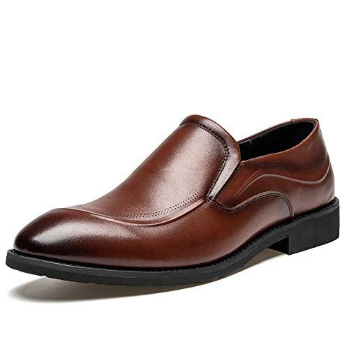 Yc electronics scarpe per uniforme scarpe oxford da lavoro scarpe formali da uomo slip on elastici cinturino in vera pelle tacco a punta scarpe a punta antiscivolo chic classico partito