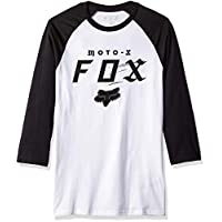 Fox Men's Moto-X Premium Raglan 3/4 Sleeve, White/Black, S