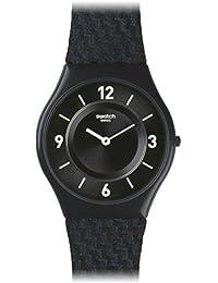 Swatch Unisex Erwachsene Armbanduhr Analog Quarz Leder SFN123