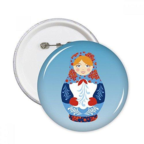 DIYthinker Russland Symbol Russische Puppen Muster Runde Stifte Abzeichen-Knopf Kleidung Dekoration 5pcs Geschenk Mehrfarbig S - Muster Kleidung Puppe