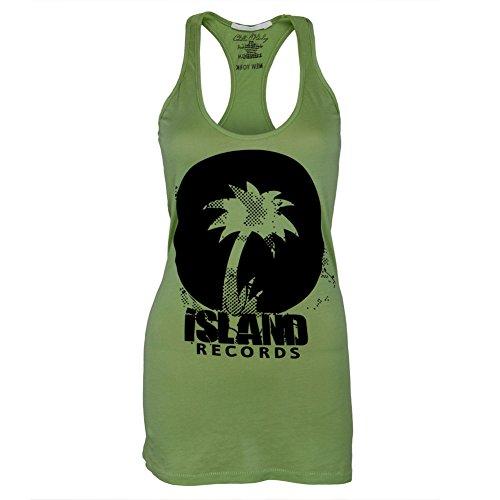 Island Records - Logo-Junioren-Tank-Top Green