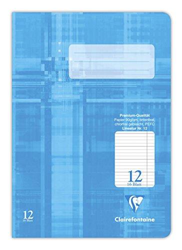 Clairefontaine 331512C Heft A5, Premium Stenoheft, 16 Blatt, 25 Hefte