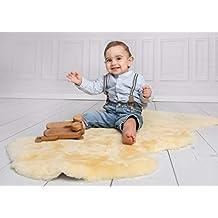 80-90 cm Babylammfell schadstoffrei Baby Lammfell medizinisch gegerbt ca
