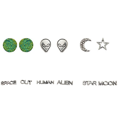 lux-accessori-colore-verde-pianeta-alieno-celestial-pave-crescent-moon-star-umani-luna-orecchini-set