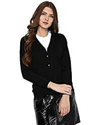 Monte Carlo Womens Wool Cardigan (1170710VN-118-38_Black)