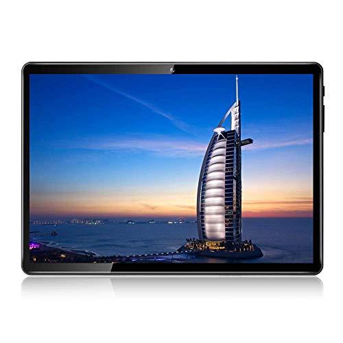 Android 8.1 Tablet 10 Zoll Dual-SIM 32 GB Speicher Full HD IPS Touchscreen Dual Kamera 2MP und 5MP, Speicher Quad Core CPU, WLAN / Bluetooth (Metall schwarz)