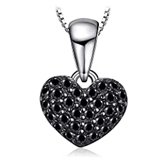Idea Regalo - JewelryPalace 0.14ct Naturale Spinello Forma di Cuore Ciondolo Argento Sterling 925 Catena 45cm