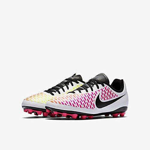 Nike Jr Magista Onda Ag, Chaussures de Football Mixte Bébé, Large Blanco (White / Black-Pink Blast-Volt)
