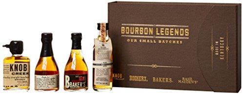 Bourbon Legends Mini-Pack Whiskey (4 x 0.05 l) Bourbon Whisky Mini